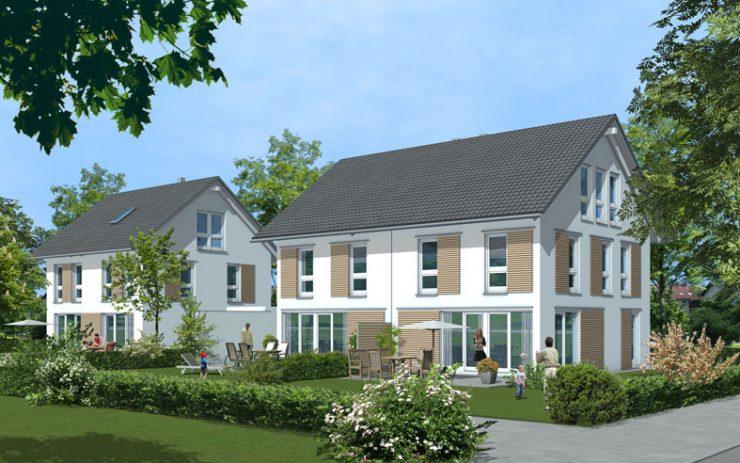 Einfamilienwohnhaus, Doppelhaus Ottendichl